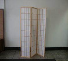 Shoji 3 Fold Screen - Natural #custommadefurniture