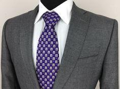 CHARLES TYRWHITT Mens 42L Slim Fit Gray Sports Coat/Jacket w/Functional Buttons #CharlesTyrwhitt #TwoButton $89.99