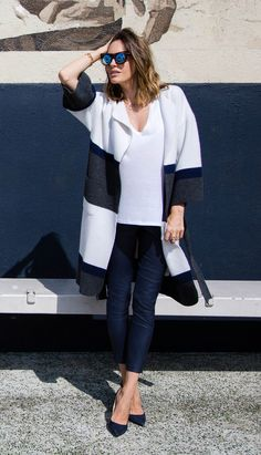 """""""Most people opt fora simple black coat in the effort to keep styling easy, but I personally prefernavy."""" - Louise Roe Fall fashion advice for 2015 