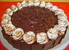 Tort Senzational - Tort cu crema de lapte - Dulciuri fel de fel Dessert Cake Recipes, Sweets Recipes, Cooking Recipes, Romanian Desserts, Cake Decorating For Beginners, Light Diet, Food Cakes, Cheesecakes, Cake Designs