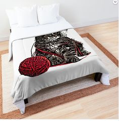Comforter College Dorm Rooms, Square Quilt, Quilt Patterns, Comforters, Tee Shirts, Pillows, Cats, Bed, Stuff To Buy