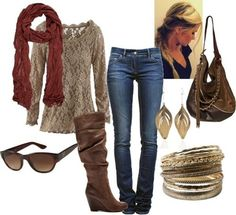 Looks I Love, jeans, boots, bags, clothes