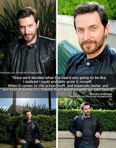 Richard Armitage about having his own beard. It's hard to explain why this is so sexy.