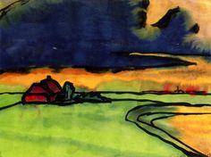 Emil Nolde (1867-1956 ) In zijn houding tegenover zijn werk leek hij in op Van Gogh. Hij stond met een gelijke emotionele hartstocht voor zijn doek. Schilderen was telkens weer een daad van zelfverloochening. Gelukkige en productieve periodes wisselden af met tijden van stilte en creatief onvermogen. Wanneer hij ontevreden was over het eindproduct, vernietigde hij dit. Later had hij daar meestal spijt van.