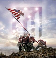 Raising the Flag on Iwo Jima (Atlético de Madrid) Okinawa, At Madrid, Iwo Jima, Champions, Trx, Lionel Messi, Soccer Players, Science Nature, Beautiful Day