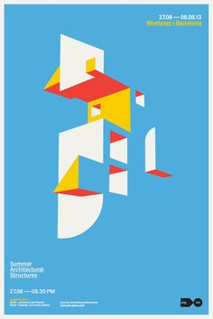 Mark Brooks, Summer Architectural Structures Convention #poster #design #graphic #minimal