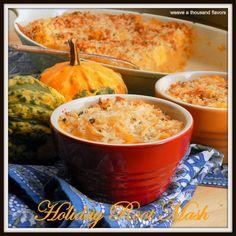 Sweet potato, rutabaga, potato mash with sage topping - Vegan (omit ...