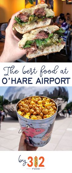 The best food at Chicago O'Hare Airport: what to eat at ORD. A Chicago restaurant guide, by via Airport Restaurants, Chicago Restaurants, Chicago Airport, Chicago City, Chicago Lake, Chicago Style, Ohare Airport, O'hare International Airport, Chicago Things To Do