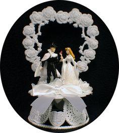 Sleeping Beauty PRINCE Charming Disney Wedding Cake Topper Top Heart Fairytale. $44.00, via Etsy.