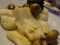 Luisa Alexandra: Filetes de Peixe Espada com Cogumelos Salteados, Arroz Thai Jasmine e Esparregado de Espinafres