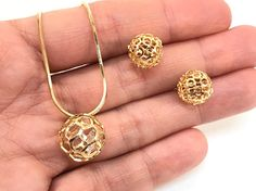 18k Gold Filled Earrings and Pendant Necklace Set SPECIAL