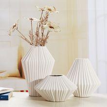 Concise Modern Criativo Cerâmica Conjunto Vaso de Porcelana Rosca Acessórios Ornamento Do Ofício da Arte para a Decoração do Quarto e do Presente(China (Mainland))