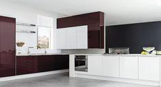 Touch of purple Apartment Interior Design, Modern Interior Design, Kitchen Cabinets, Kitchens, Blog, Ideas, Touch, Purple, Home Decor