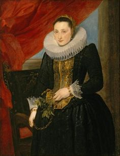 Anthony van Dyck - Portrait of a Lady, oil on canvs painting , c. 1618-21, El Paso Museum of Art - Anthony van Dyck - Wikimedia Commons