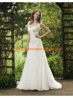 Robe de mariée bustier en coeur boléro