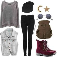 fall outfits, grunge, hipster, outfits, ootd