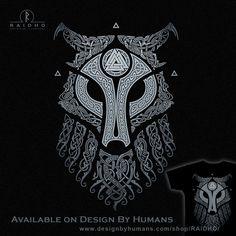 ULFHEDNAR Wolf T-Shirt by RAIDHO