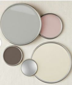 Colour scheme - cream, pink, grey and brown