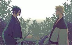 Samurai AU - Sasuke and Naruto #naruto