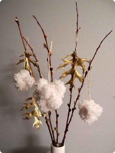 Fluffy Pom-Pom Ornaments
