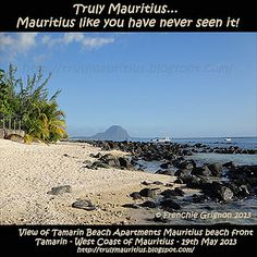 Beach view from Tamarin Beach Apartments Mauritius - www.tamarinbeachapartmentsmauritius.com