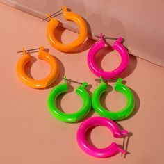 Rainbow Baby Amalfi Hoops- Neon Pink (Ships Mid March) | Luv Aj