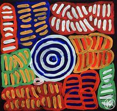 """Awelye & Bush Melon"" by Betty Mbitjana 30cm x 30cm WAS $240 NOW $150"