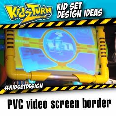 PVC video screen border - - a cool themed frame to your video screen is always a nice touch. - In this tip from our 2005/06 Instagram Video - Click to play See more tips tricks & ideas: #kidsetdesign - #kidmin #kidschurch #vbs #kidsministry #kidsmin #childrensministry #stagedesign #setdesign #kidstagedesign