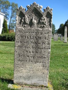 In Memory of WILLIAM A. Son of John D. and Catherine Ruthford. Died 28th May 1870 Aged 26 years. His sun has gone down while it was yet day. Jeremiah.