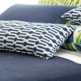 Found it at Wayfair - Graphic Traffic Links Double Boudoir Decorative Pillow in Indigo