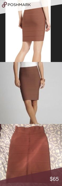 Bcbg maxazria bandage bodycon skirt Bcbg max azria size small toffee bandage skirt. No flaws. No trades. BCBGMaxAzria Skirts