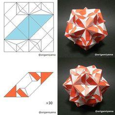 いいね!69件、コメント1件 ― @origamiyamaのInstagramアカウント: 「#origamimodular #origami #kusudama #sonobe #sonobevariations」