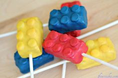 """brick"" cake pops From Wreck-it Ralph.  - A DIY idea for movie snacks at a backyard movie event by Southern Outdoor Cinema"
