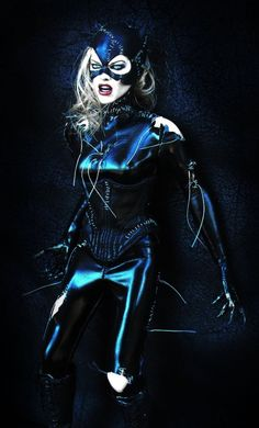 Catwoman Photomontage with Michelle Pfeiffer and one doll.