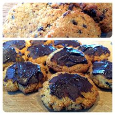 Banting plain and chocolate coated coconut biscuits Coconut Biscuits, Coconut Cookies, Coconut Macaroons, Coconut Flour, Sugar Free Honey, Banting Recipes, Paleo Recipes, Desserts With Biscuits, Chocolate Coating