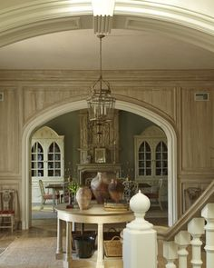 Love This Paint Technique On The Paneled Walls!