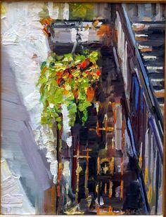 "Rick Reinert - ""Studies in Sunlight and Rain"": Hanging Basket on King"