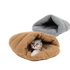 Washable Cute Purple Dog Cat Bed Pet House Sofa Warm Windproof Shoes House Bedding For Small Dogs Cats Winter Cat's Product