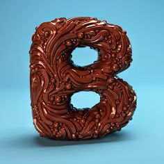 The Sculpted Alphabet by FOREAL™, via Behance
