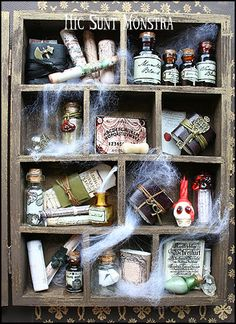 The Magician's Shelf  miniature cabinet with a by hicsuntmonstra, €65.00