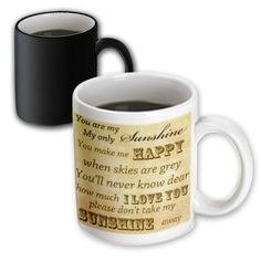 PS Vintage  Vintage Songs You Are My Sunshine Love Songs  11oz Magic Transforming Mug mug_79369_3 -- You can find more details by visiting the image link.
