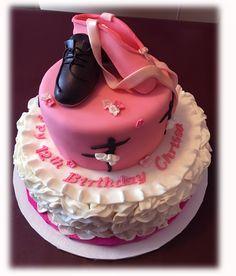 Ballet & Tap Themed Birthday Cake.