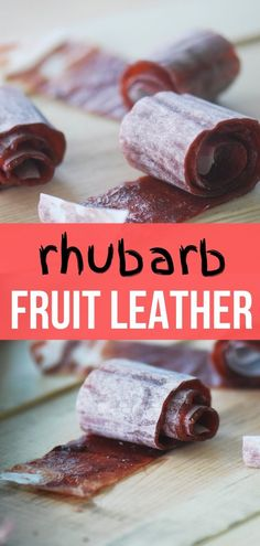 When you have an over abundance of rhubarb make some fruit leather with it! Potluck Recipes, Healthy Dessert Recipes, Delicious Desserts, Cooking Recipes, Oreo Dessert, Mini Desserts, Rhubarb Fruit, Fruit Leather Recipe, Rhubarb Recipes