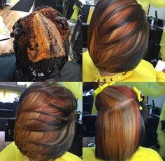 Need a Hair Makeover? Add Some Hair Color! - Voice of Hair If you're tired of your current style and looking for a way to spice things up, then consider adding some hair color. SEE DETAILS. Love Hair, Gorgeous Hair, Curly Hair Styles, Natural Hair Styles, Colored Natural Hair, Natural Hair Mohawk, My Hairstyle, Fall Hair, Bob Hairstyles