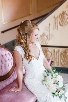 Elegant Ballroom Vow Renewal Styled Shoot | Intimate Weddings - Small Wedding Blog - DIY Wedding Ideas for Small and Intimate Weddings - Real Small Weddings #styledshoot #bridalinspiration #beautifulbride #bridalhairstyle #bridalhair #bridallook #bridaloutfit #hairstyle #weddinghairideas #bridalhairideas