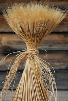 Instead of wheat (shown here), have rye grain bundles as decor.