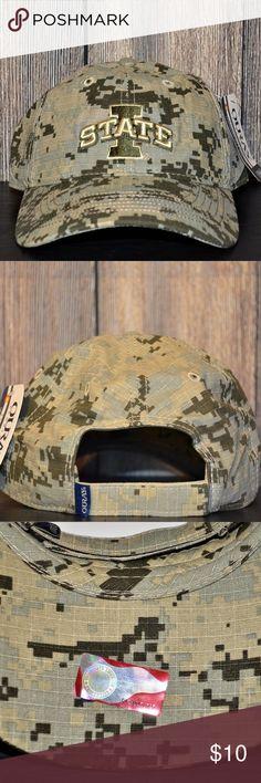 Unisex Iowa State Cyclones Digital Camo Hat New With Tags NCAA Iowa State  Cyclones Digital Camo Cap Hat Brand  Ouray Sportswear Adjustable Size  Cotton ... f716fedb0