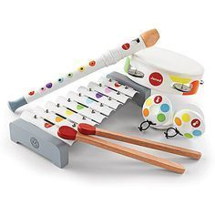 Janod Confetti Musical Set Wooden Musical Toys, The Toy Centre UK Musical Toys For Kids, Music For Toddlers, Toddler Music, Kids Music, Toddler Gifts, Toddler Toys, Kids Toys, Five Little Monkeys, Making Wooden Toys