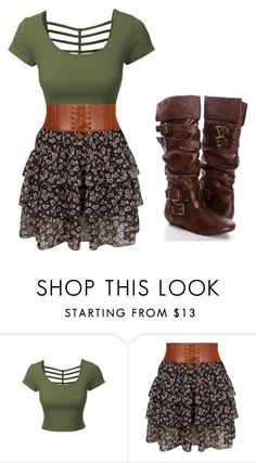 """""""Untitled #1166"""" by anime-nerd-wolf ❤ liked on Polyvore featuring LE3NO and New Look"""