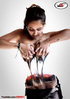Bodypaint Illusion - 'Teared Torso' - Denst1 | I Love Body Art